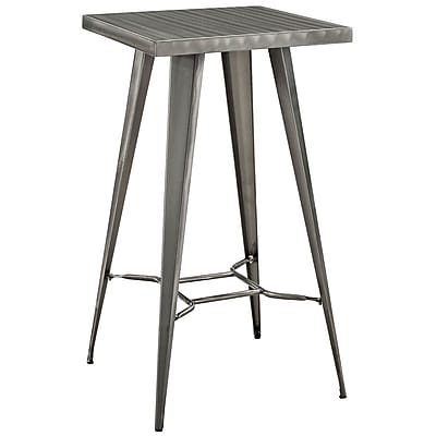Modway 23.5''L Metal Dining Table, Gunmetal (EEI-2037-GME)