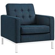 """Modway Loft 31""""W Fabric Armchair, Blue (EEI-2050-AZU)"""