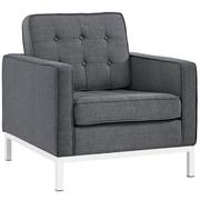 """Modway Loft 31""""W Fabric Armchair, Gray (EEI-2050-DOR)"""