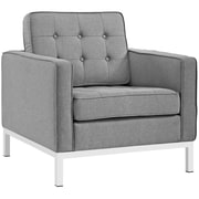 "Modway Loft 31""W Fabric Armchair, Gray (EEI-2050-LGR)"