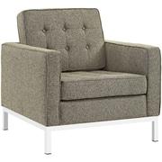 "Modway Loft 31"" Fabric Armchair, Oatmeal (EEI-2050-OAT)"