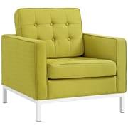 "Modway Loft 31""W Fabric Armchair, Green (EEI-2050-WHE)"