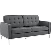 "Modway Loft 32""W Fabric Loveseat, Gray (EEI-2051-DOR)"