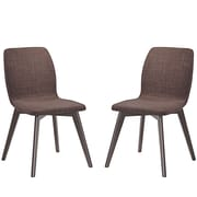 Modway Proclaim Linen Dining Side Chair, Walnut Mocha (EEI-2059-WAL-MOC-SET)