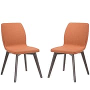 Modway Proclaim Linen Dining Side Chair, Walnut Orange (EEI-2059-WAL-ORA-SET)