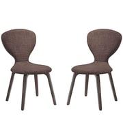 Modway Tempest Linen Dining Side Chair Walnut Brown 1 EEI-2060-WAL-BRN-SET