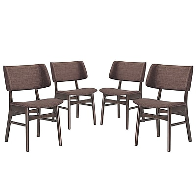 Modway Vestige Linen Dining Side Chair Walnut Mocha 1 EEI-2062-WAL-MOC-SET