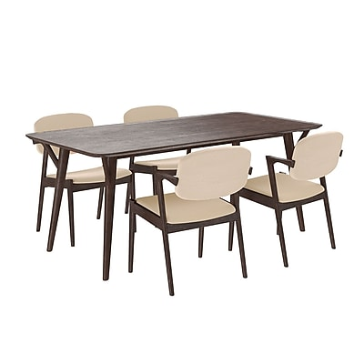 Modway 71'' Wood Dining Table, Walnut Beige (EEI-2066-WAL-BEI-SET)