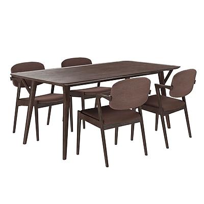 Modway 71'' Wood Dining Table, Walnut Mocha (EEI-2066-WAL-MOC-SET)