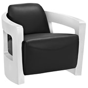 Modway Trip Leather Lounge Chair, Black (EEI-2069-BLK)