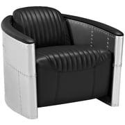 "Modway Visibility 43"" Vinyl Lounge Chair, Black (EEI-2071-BLK)"