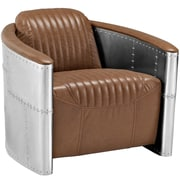 "Modway Visibility 32""W Vinyl Lounge Chair, Brown (EEI-2071-BRN)"