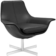"Modway Release 34.5""W Bonded Leather Lounge Chair Black EEI-2073-BLK"