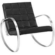 Modway Gravitas Vinyl Lounge Chair, Black (EEI-2084-BLK)