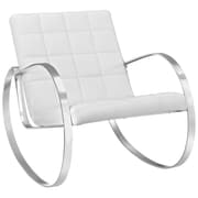 """Modway Gravitas 40.5""""W Vinyl Lounge Chair, White (EEI-2084-WHI)"""