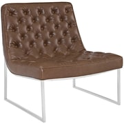 "Modway Ibiza 32""W Vinyl Lounge Chair, Brown (EEI-2089-BRN)"