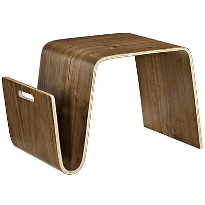 Modway Polaris Wood/Veneer Coffee Table, Walnut, Each (889654039679)