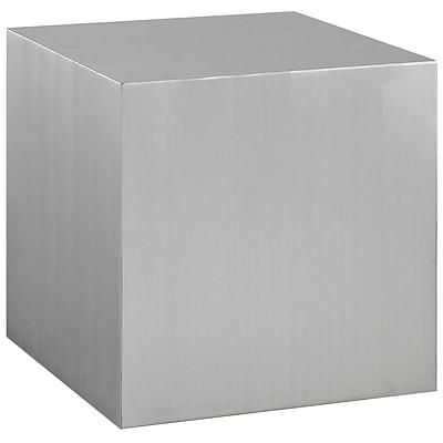 Modway Cast Steel Side Table, Silver, Each (889654039723)