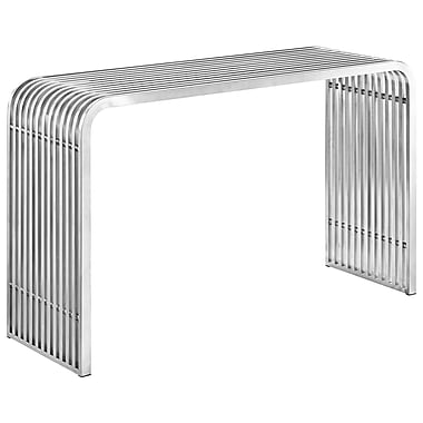 Modway Pipe Steel Console Table, Silver, Each (889654039785)