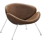 Modway Nutshell Vinyl Lounge Chair, Brown (EEI-809-BRN)