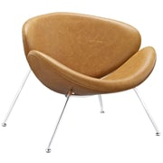 "Modway Nutshell 32.5""W Vinyl Lounge Chair, Brown (EEI-809-TAN)"