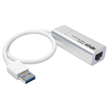 Tripp Lite USB 3.0 SuperSpeed to Gigabit Ethernet NIC Network Adapter, USB 3.0, 1 Port(s), 1 Twisted Pair, (U336-000-GB-AL)