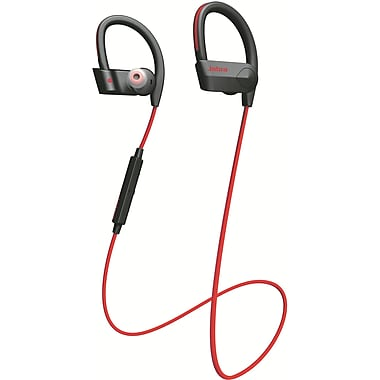 Jabra® Sport Pace 100-97700001-02 Wireless Over-The-Ear Headphone, Red/Black