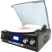 Boytone™ BT-17DJB 3-Speed Record Turntable System with AM-FM Radio, Black