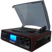 Boytone™ BT-19DJM-C 3-Speed Record Turntable System with AM-FM Radio, Cherry Wood