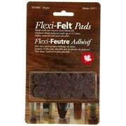 Flexi-Feutre – Coussinets feutrés adhésifs industriels D5003B en rondelles de 3/4 po, foncé, paq./20