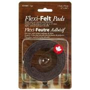 Flexi-Feutre – Coussinet feutré adhésif industriel D5005B en bande de 1 po x 36 po, foncé