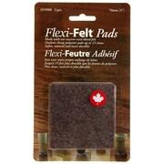 Flexi-Feutre – Coussinets feutrés adhésifs industriels D5006B en carrés de 3 po, foncé, paq./2