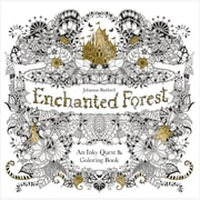 """Chronicle Books """"Enchanted Forest Coloring Book,"""" Softcover (CH-67488)"""