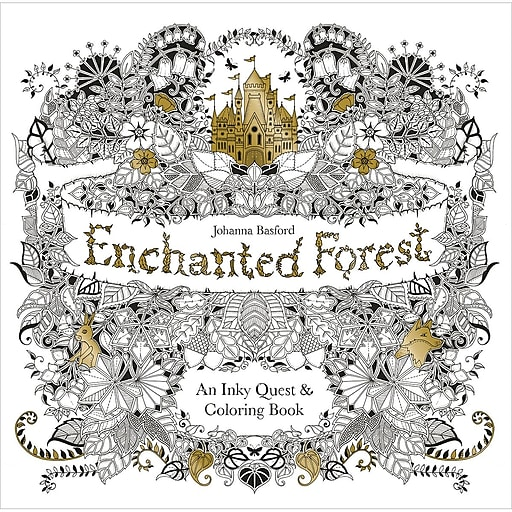 Chronicle Books Enchanted Forest Coloring Book Softcover CH