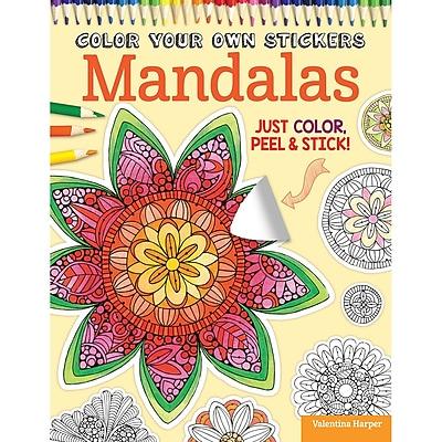 Color Your Own Sticker: Mandalas, Softcover (DO-5585)