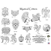 Mystical Creatures Coloring Book Spiral Bound EACB 64652