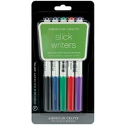 American Crafts Fine Point Slick Writer Markers, Assorted Colors, 5/Pack (S6206-1)