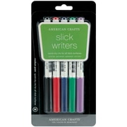 American Crafts Medium Point Slick Writer Markers, Assorted Colors, 5/Pack (S6206-2)