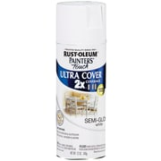 Rust-Oleum Painter's Touch 12 oz Ultra Cover Aerosol Paint, Semi-Gloss White (PTUC249-49060)