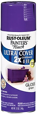 Rust-Oleum Painter's Touch 12 oz Ultra Cover Aerosol Paint, Grape (PTUC249-49113)