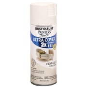 Rust-Oleum Painter's Touch 12 oz Ultra Cover Aerosol Paint, Semi-Gloss Ivory Bisque (PTUC249-49860)