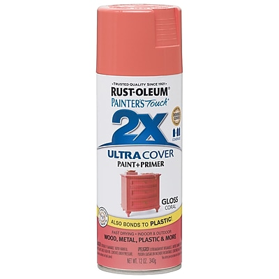 Rust-Oleum Painter's Touch 12 oz. Ultra Cover Gloss Aerosol Paint, Coral