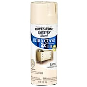 Rust-Oleum Painter's Touch 12 oz Ultra Cover Satin Aerosol Paint, Heirloom White (PTUCS249-076)