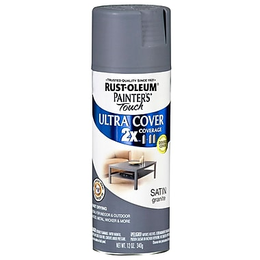 Rust-Oleum Painter's Touch 12 oz Ultra Cover Satin Aerosol Paint, Graphite (PTUCS249-078)