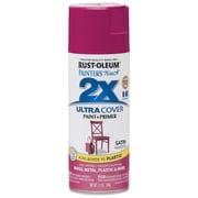 Rust-Oleum Painter's Touch 12 oz Ultra Cover Satin Aerosol Paint, Magenta (PTUCS249-188)