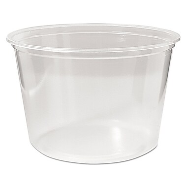 FABRI KAL Microwavable Deli Containers, 16 Oz.
