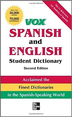 Vox Spanish and English Student Dictionary PB Vox Paperback