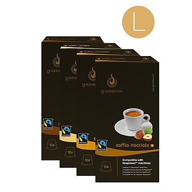 Gourmesso Coffee Flavored Nespresso®-Compatible, Large Bundle, 10 Capsules/Box, 28 Boxes/Bundle (11072)