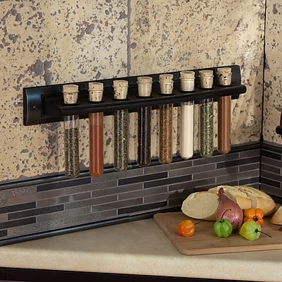 RQ Home 8 Jar Spice Rack; Wrought