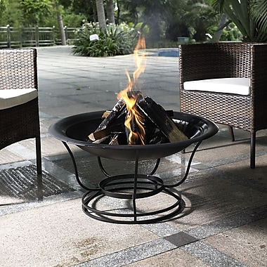 Crosley Buckner Steel Wood Burning Fire pit